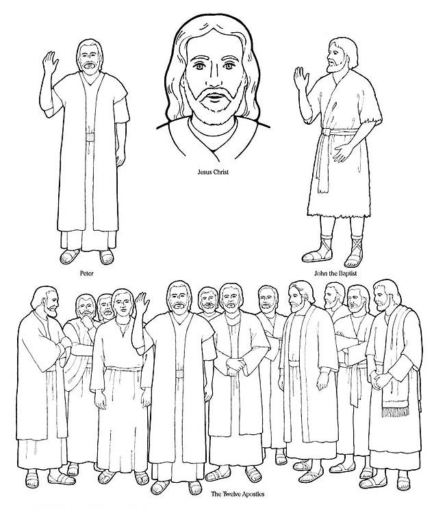 free lds clipart to color for primary children | Right click on ...