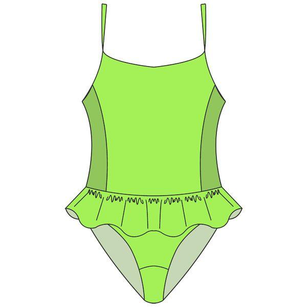 Выкройка купальника для девочки | Ropa de bebés y niños | Pinterest