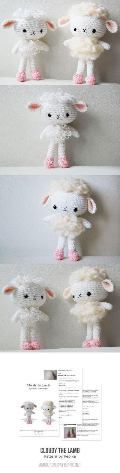 Cloudy the Lamb amigurumi pattern by Pepika | Patrones amigurumi ...