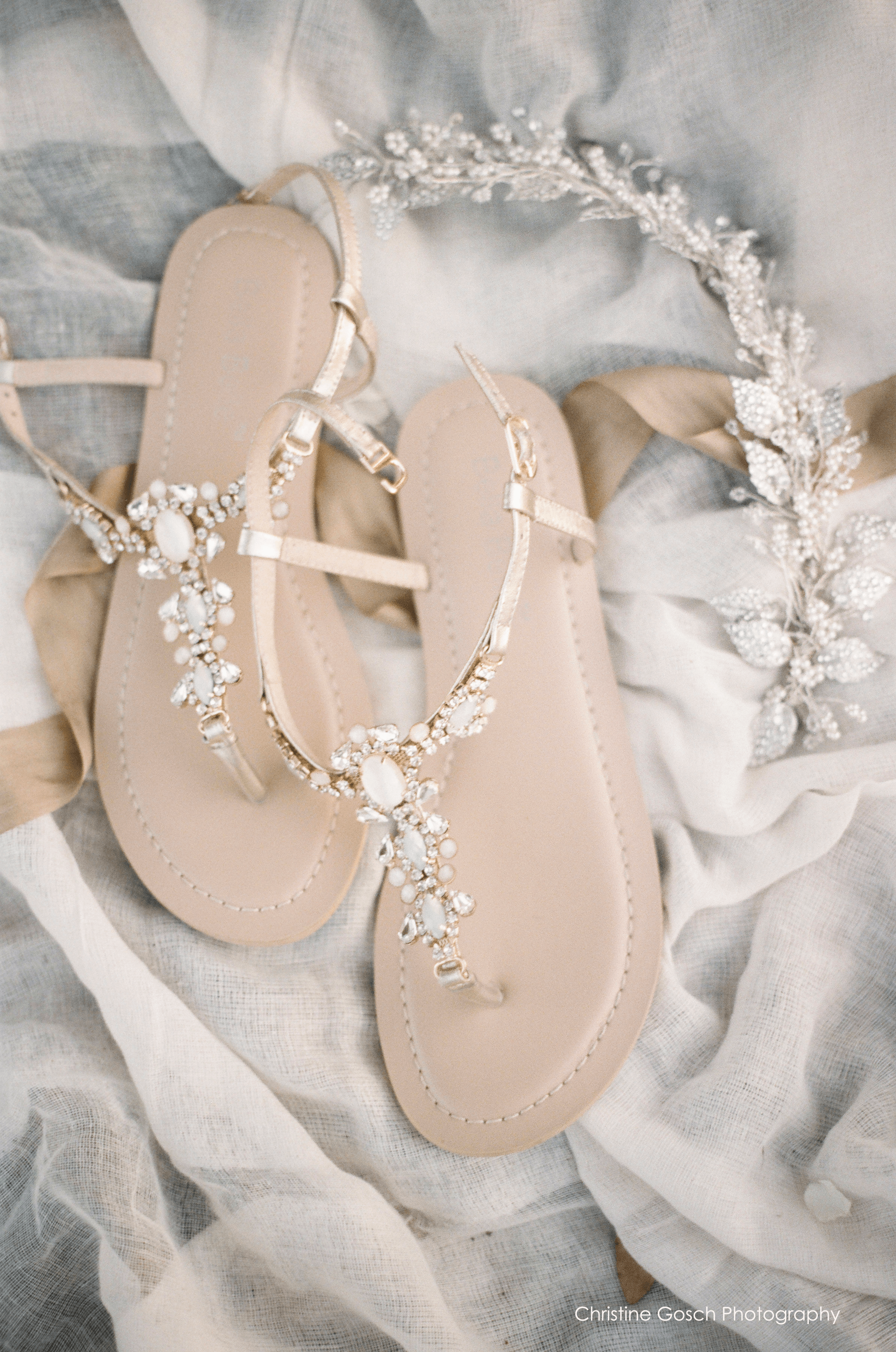 544910608a0e62 Thong sandal - Vintage-inspired rows of crystal jewels and white onyx-like  stones - Jewels set on gold metal plate - Light blue outsole for your   something ...