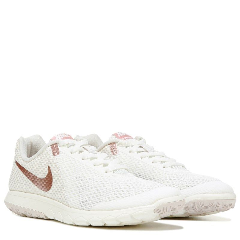 Nike Women s Flex Experience RN 6 Running Shoes (Sail Rose Gold ... 878a3e781db0