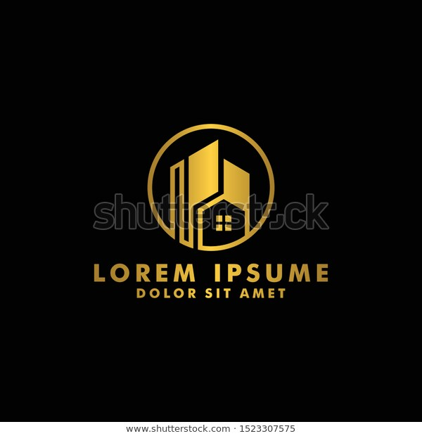 Real Estate Logo House Home Icon Stock Vector Royalty Free 1523307575 Home Apartment Architecture Art Big Brand Branding Building Business Company