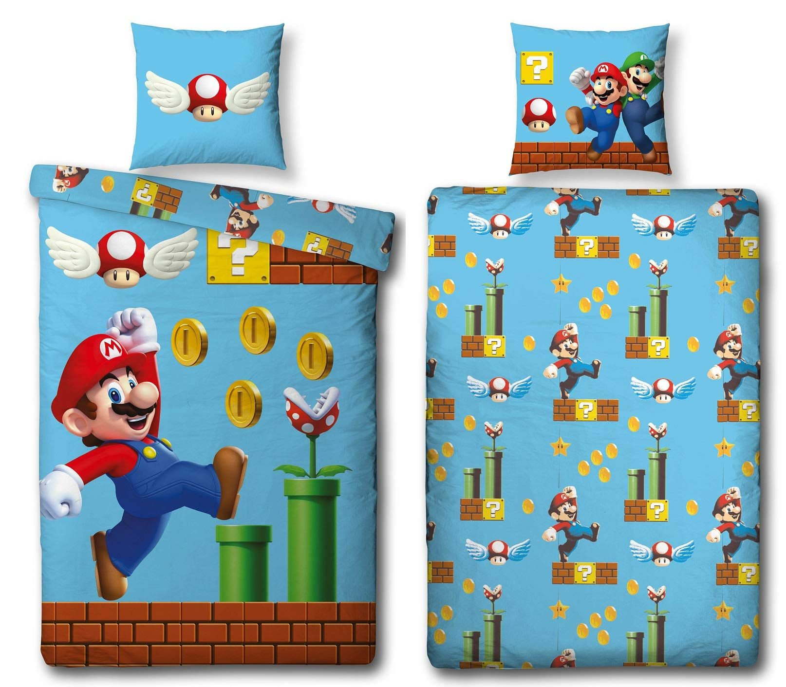 Bettwäsche Transformers Character World Wende Bettwäsche-set Super Mario, 135x200 Cm 80x80 Cm, 100% Baumwolle, Games, 100% Baumwolle, Linon: … | Bettwäsche Set, Bettwäsche, Kopfkissenbezug