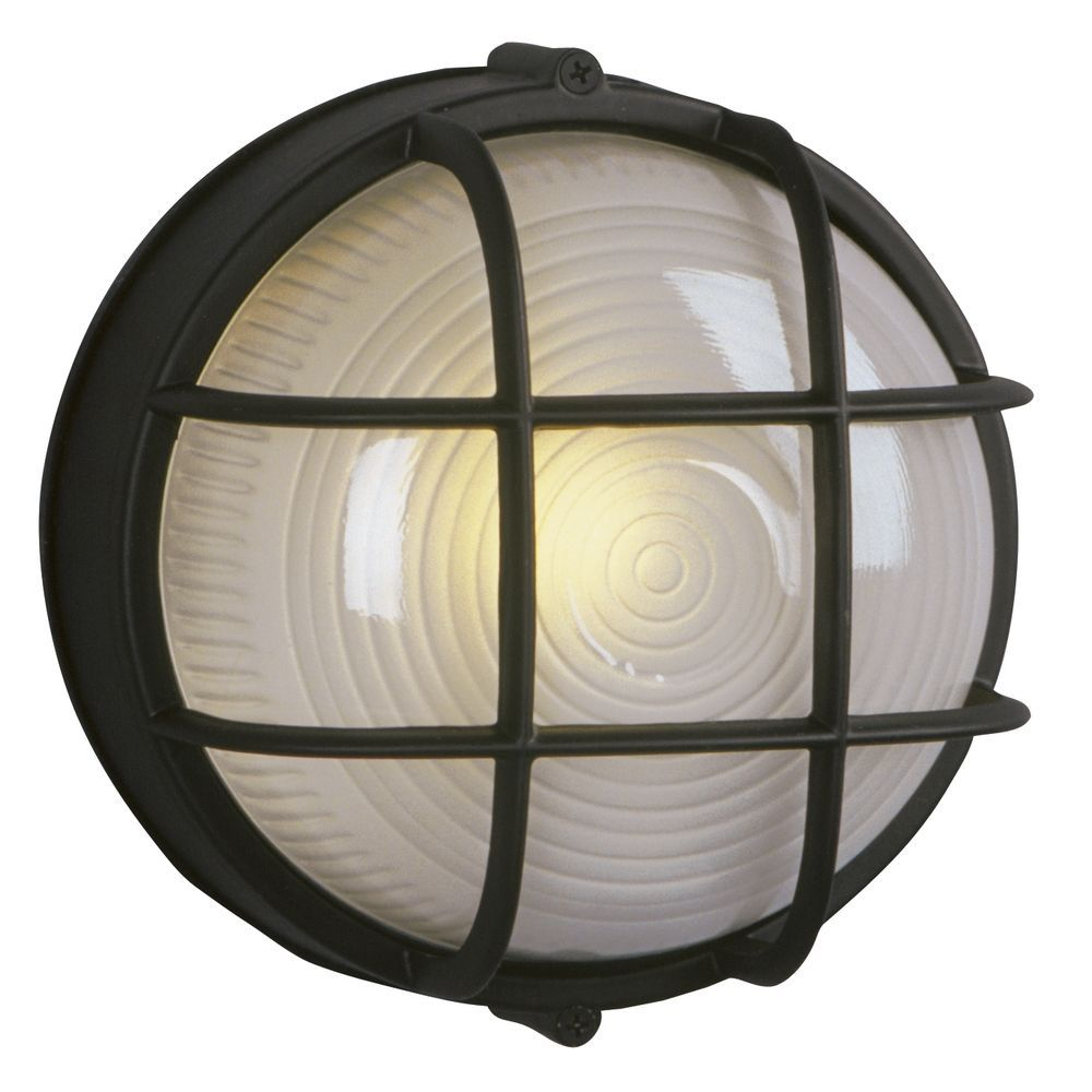 marine bulkhead outdoor wall light in black nautical design