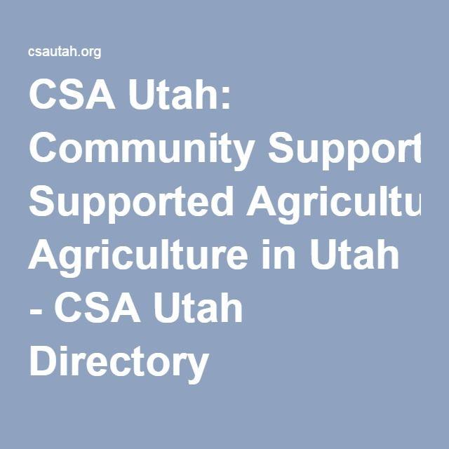 CSA Utah: Community Supported Agriculture in Utah - CSA Utah Directory