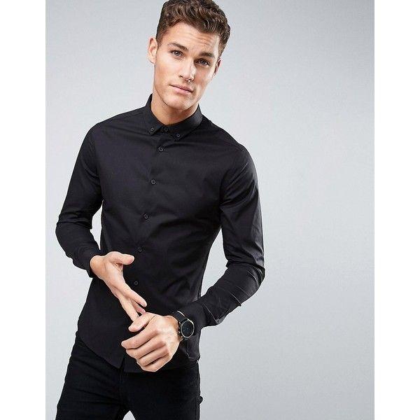 Black · ASOS Skinny Shirt ...
