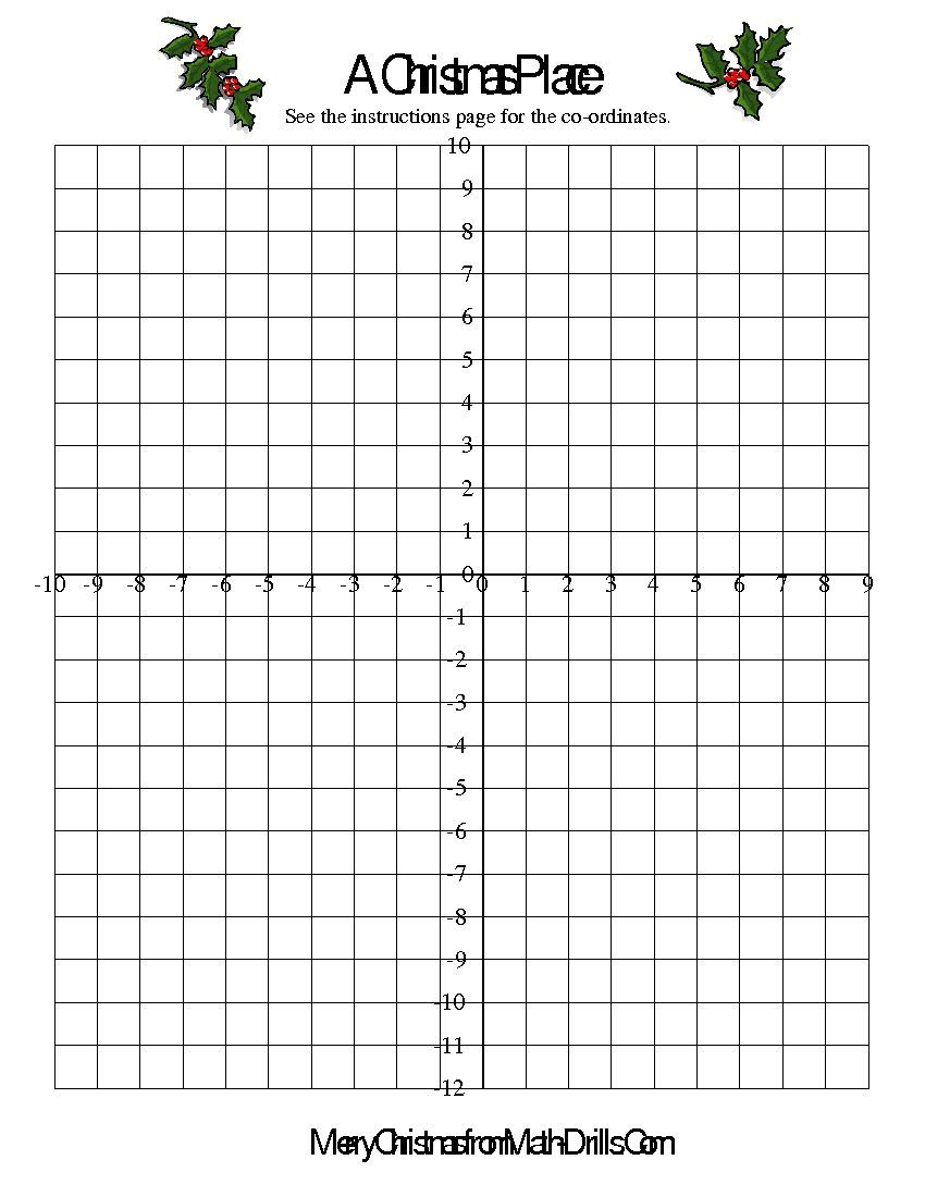 co ordinate geometry activity math worksheet freemath math christmas math worksheets math. Black Bedroom Furniture Sets. Home Design Ideas