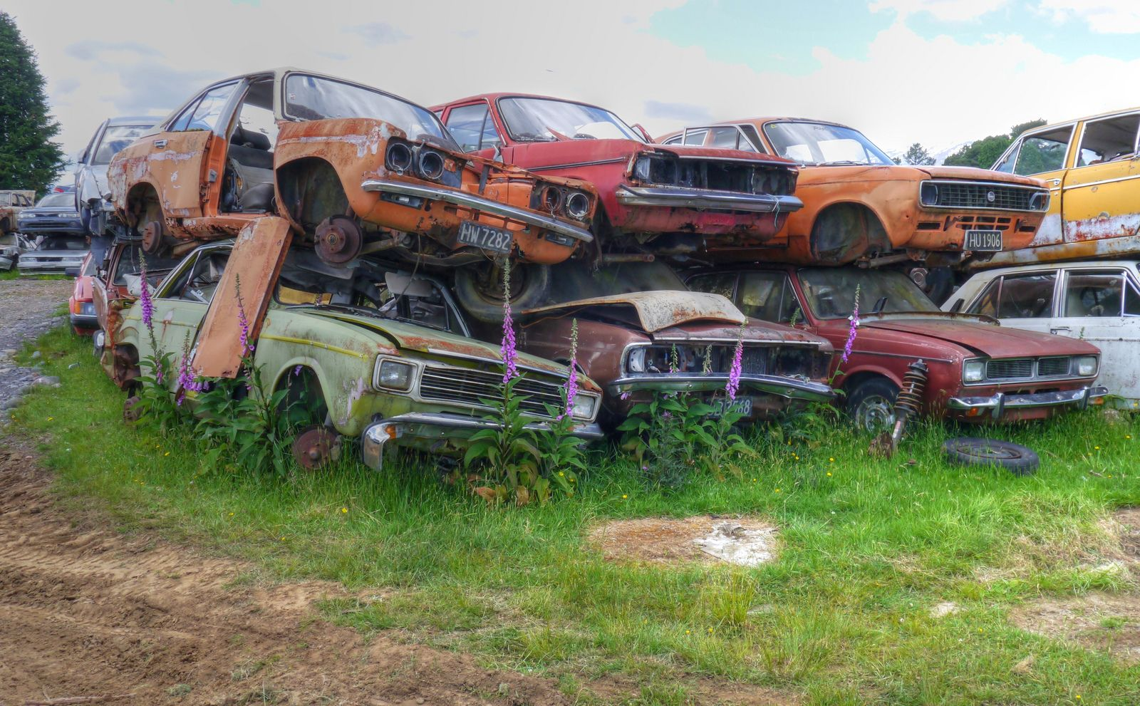 Hillman | Scrap yards | Pinterest | Abandoned cars, Barn finds and Cars