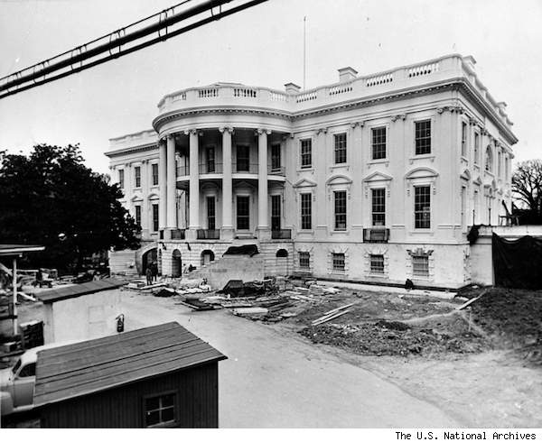 White House Gutted See What It Looked Like Ripped Up From Head To Toe Photos White House Usa White House Washington Dc White House