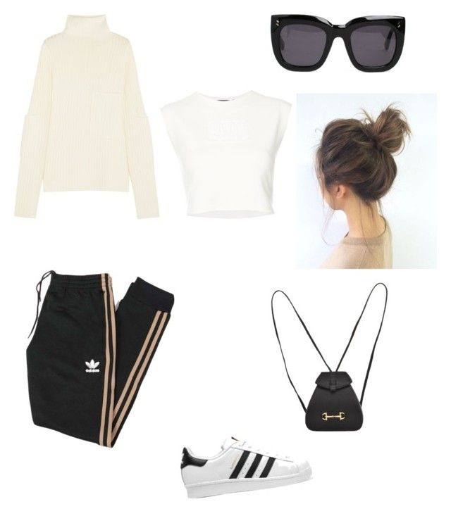 """""""#look 73"""" by tiphaineeeee ❤ liked on Polyvore featuring adidas Originals, Joseph, STELLA McCARTNEY, Gucci and Puma"""