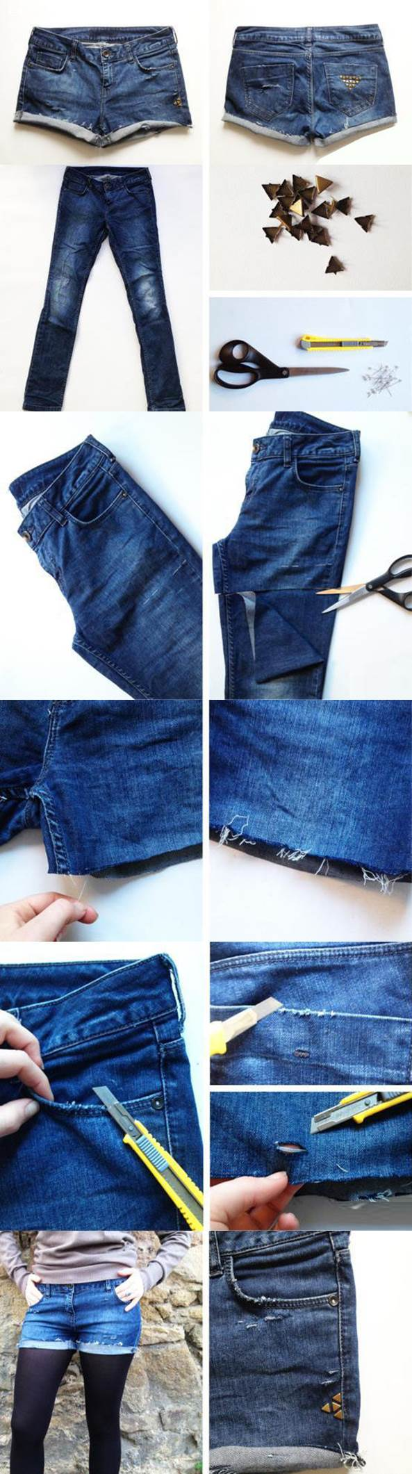 Lav hulede bukser
