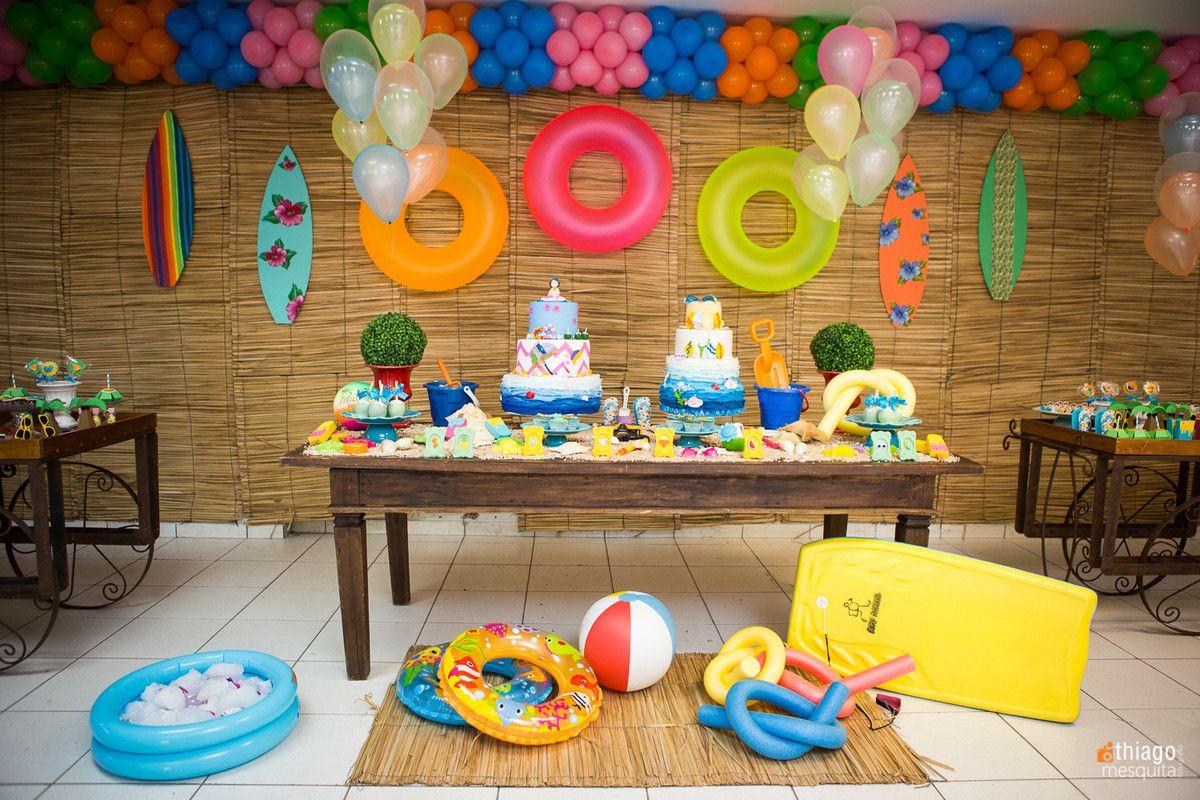 Imagem relacionada barbie surfista e havaiano - Decoracion cumpleanos nino 6 anos ...