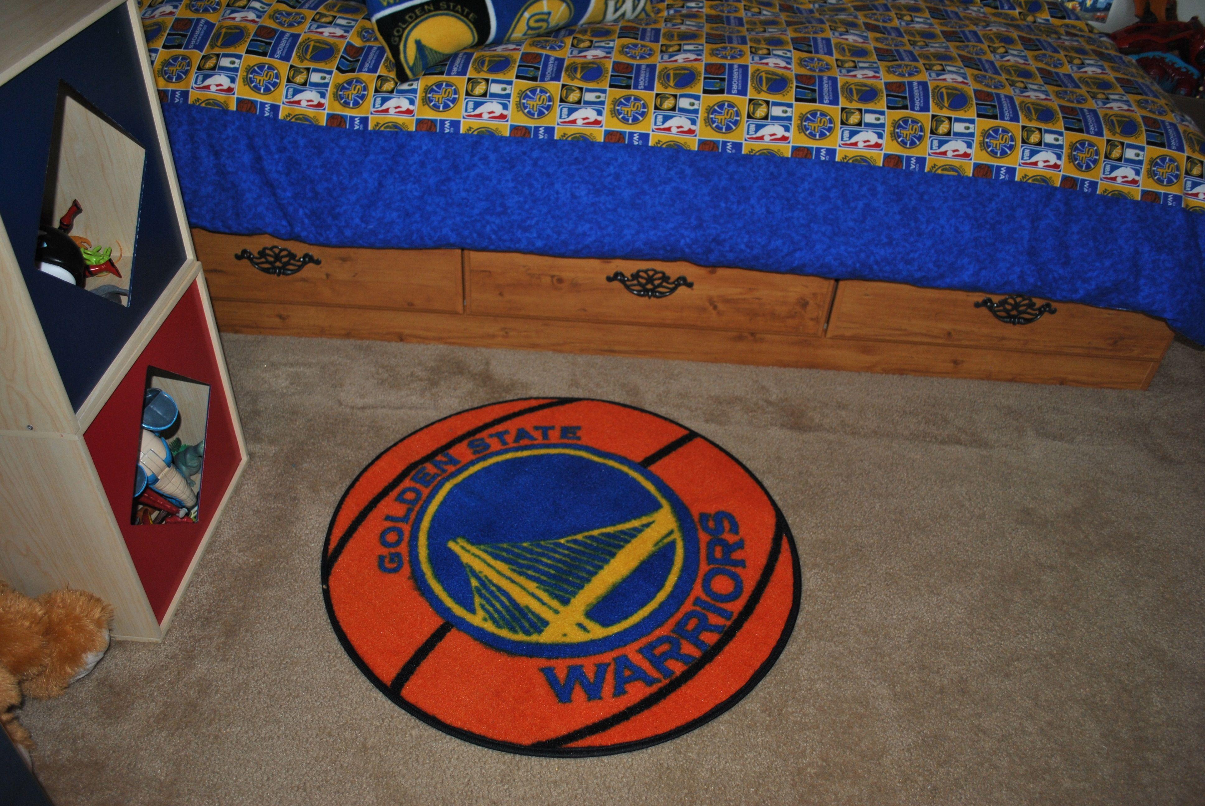 Golden State Warriors Bedroom Rug Jake S Golden State