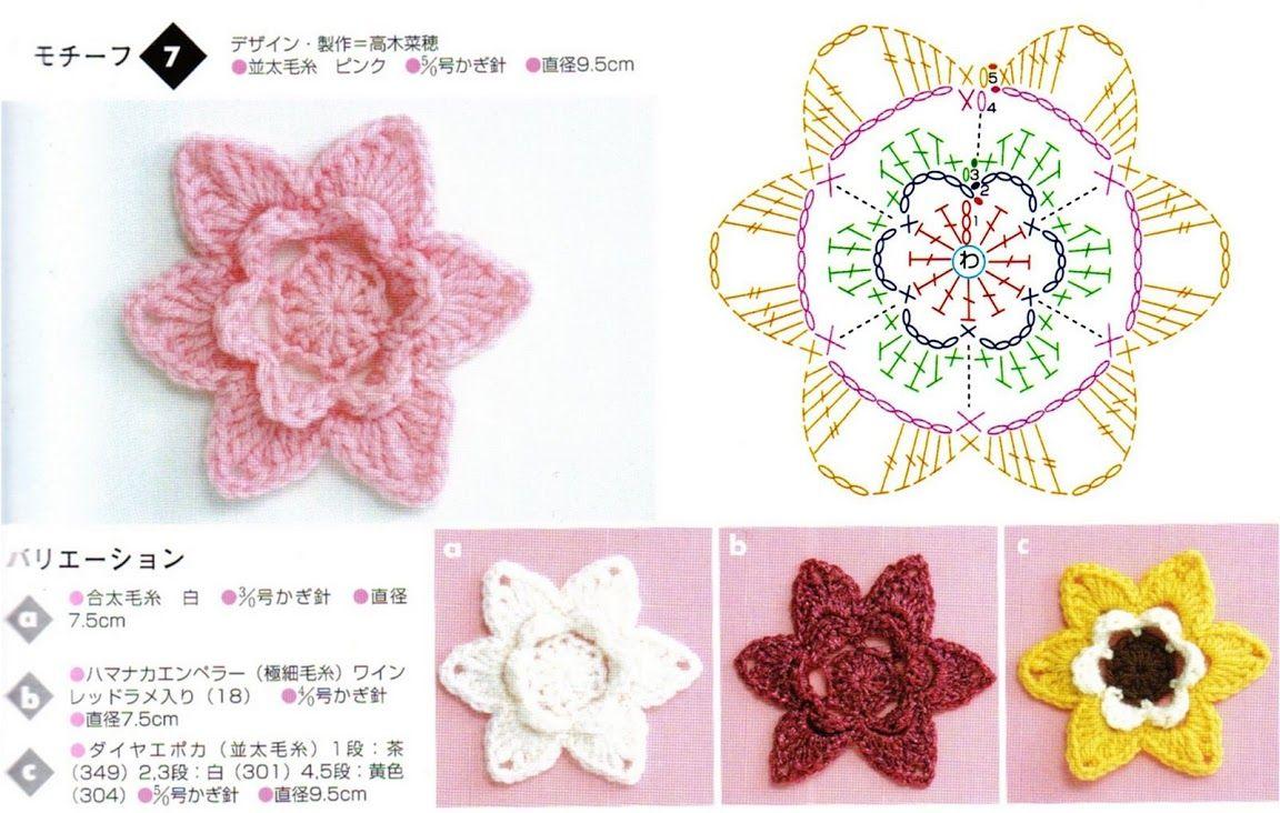 flores crochet ganchillo - AZU -- - Picasa-Webalben | crochet ...