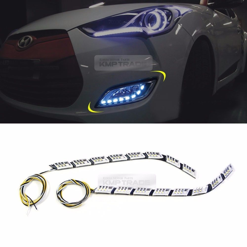 2Way Fog Lights Lamp DRL Turn Signal LED Module for HYUNDAI 2011 ...