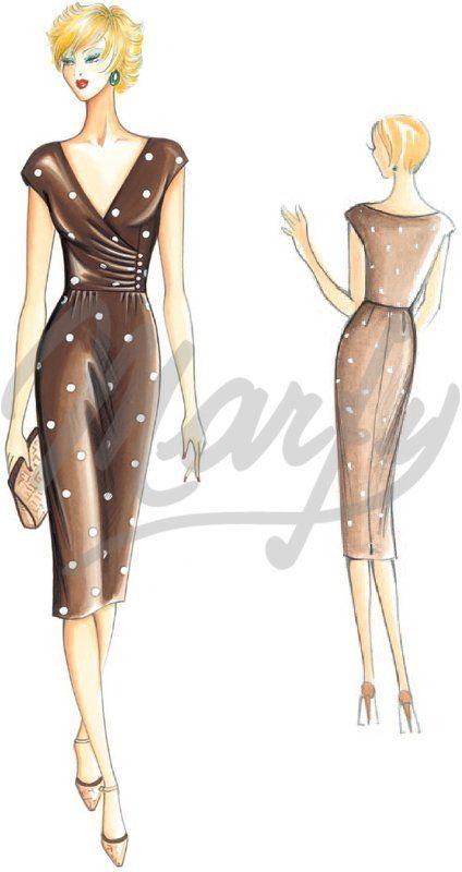 Model 2827 | Sewing Pattern Dress | marfy | Pinterest | Nähen ...