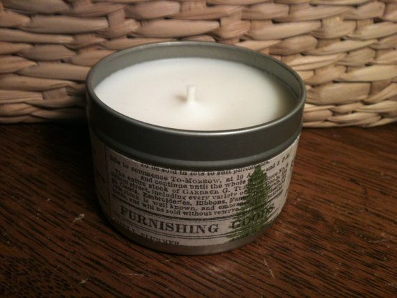 White Pine Soy Candle   4 oz. Tin by CharmingInteriors on Etsy, $9. #MaineTeam