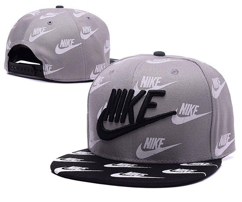 Mens Nike True Nike Logo 3D Embroidery Multi Nike Printed Logo Sports  Fashion Snapback Cap -