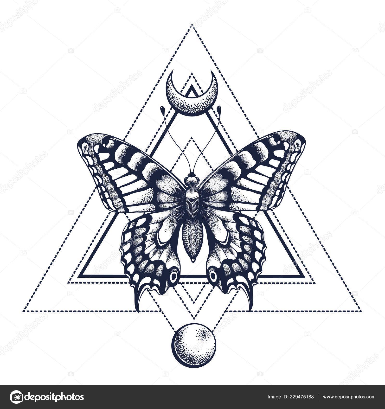 Photo of Geometrische Schmetterling Tattoo   Worte der Weisheit