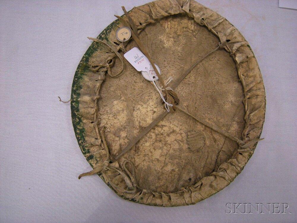 Cheyenne Painted Hide Dance Shield   Sale Number 2636B, Lot Number 191   Skinner Auctioneers