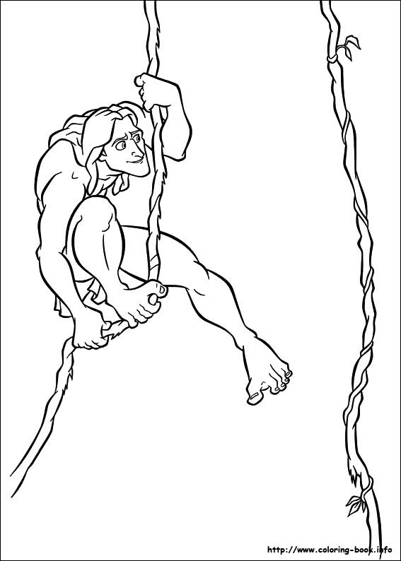 Tarzan coloring picture to color Pinterest Tarzan and Craft