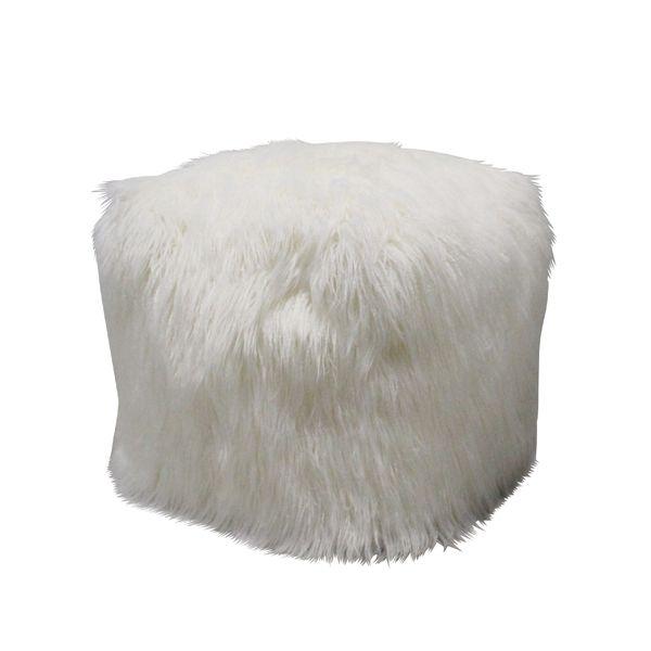 White Pouf White Shaggy Pouf Dimensions 40 X 40 X 40 Gorgeous Shaggy Pouf Ottoman