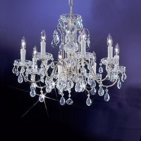 8 Light Crystal Chandelier: 17 Best images about dining room light on Pinterest | Chrome finish, Maria  theresa and Silver chandelier,Lighting