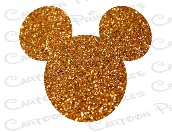 Minnie mouse gold. Mickey head glitter bling