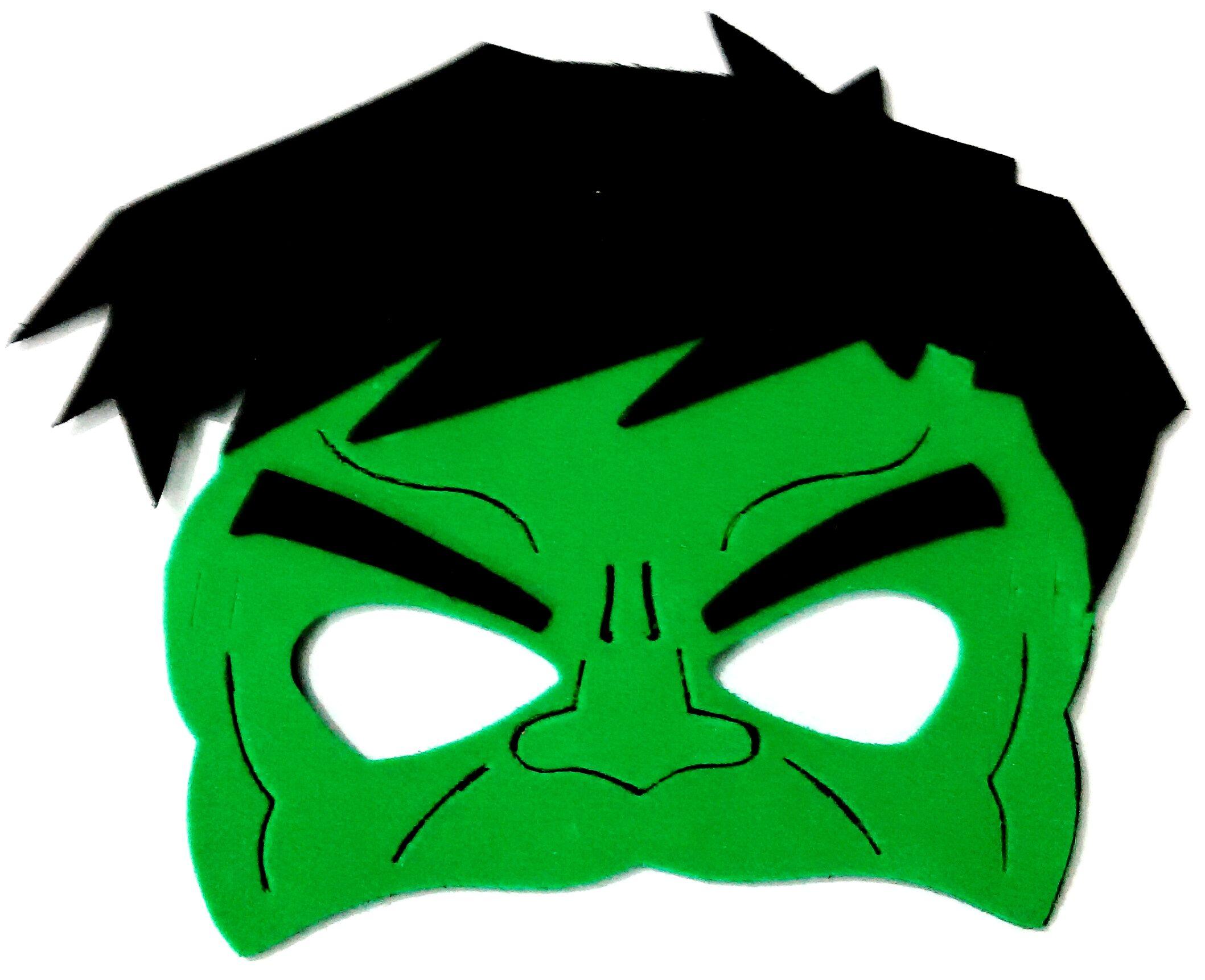 Mascara Eva Hulk Super Herois 30 Pcs Festa De Super Herois