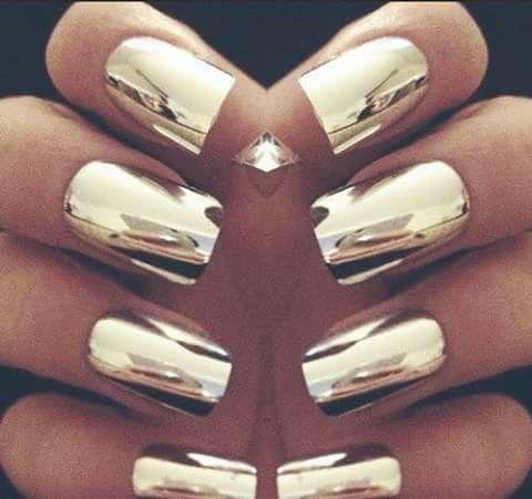 Uñas efecto #Espejo Lucen increíblemente hermosas #VM UÑAS Pinterest - uas efecto espejo
