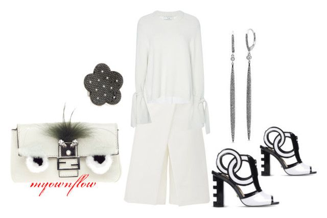 """WHITE...MY FAV COLOR"" by myownflow on Polyvore featuring TIBI, Kat Maconie, Fendi and Roberto Coin"