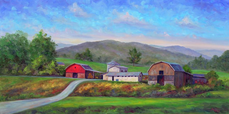 Red Barn Paintings for Sale