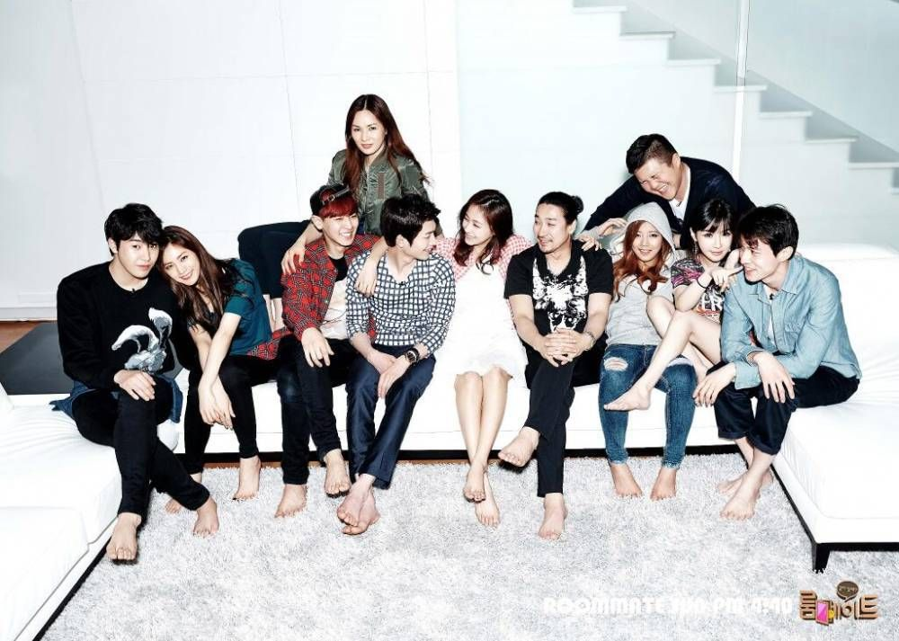 Sbs Roommate Airs Its First Episode Starring Your Favorite Idols And Celebrities Korean Tv Shows Roommate Korean Variety Shows