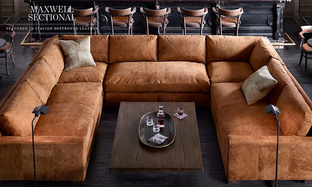 I M All For Rooms Lookin Cute And Girlie But This Is Awesome Rh Furniture Design Living Room Living Room Leather Restoration Hardware Sectional