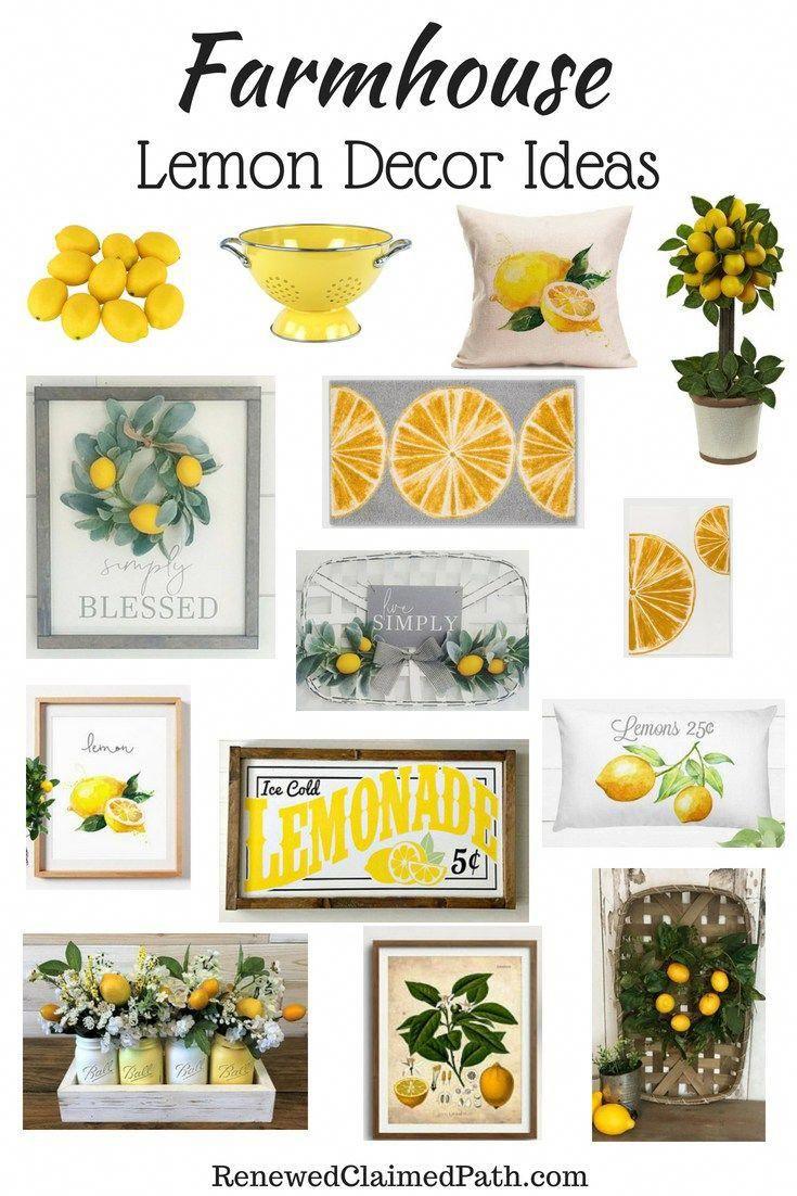 Farmhouse Lemon Decor Inspiration Ideas
