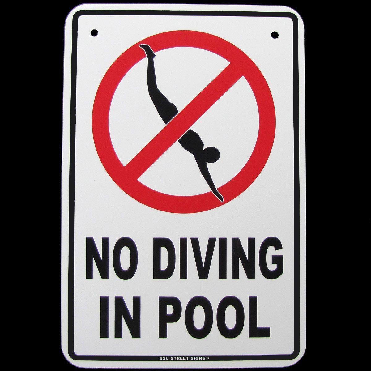 0b0e1deedf32 warning signs danger. Danger No Diving Swimming Pool Hot Tub ...