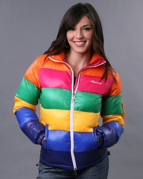 Rainbow-Colored Akademiks Nano Rib Down Jacket  Jackets -5593