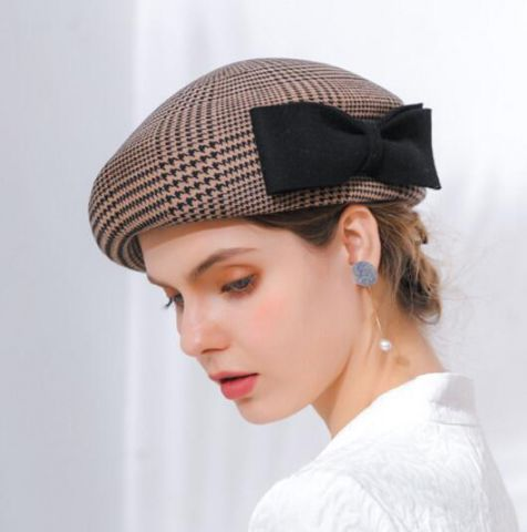 4b740f0b5a036 Pin by throw pillows home on wool beret hat with bow for ladies ...
