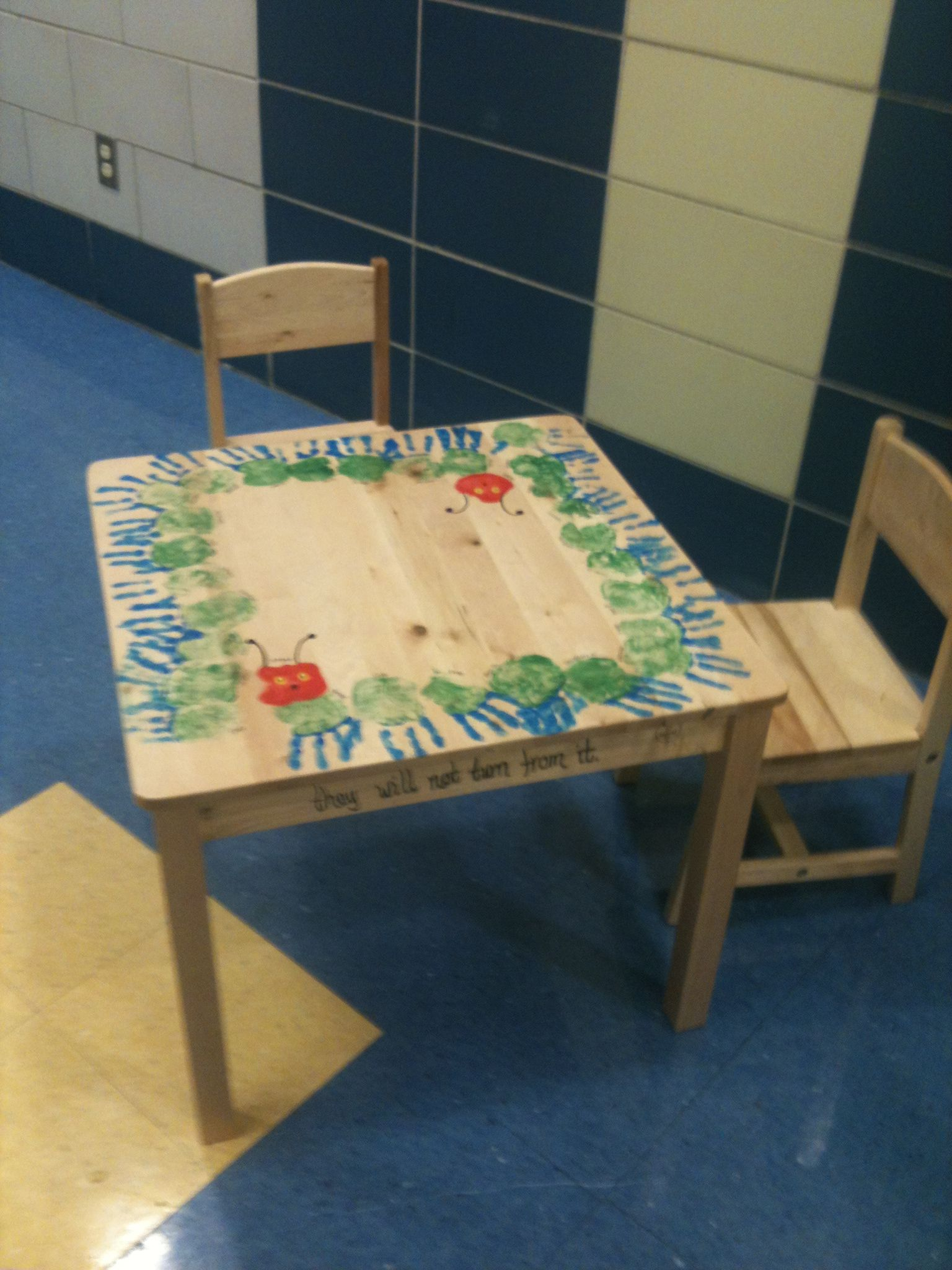 Pre Tables And Chairs Rp Module Chair K Handprint Hungry Caterpillar Table For