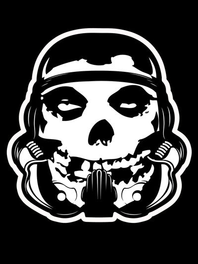 Misfit trooper by don calamari starwars stormtrooper misfits mashup