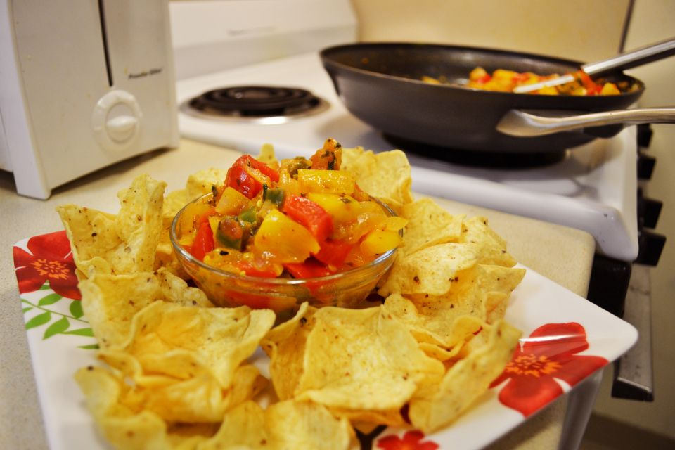 Homemade Chunky Salsa, part of a Super Bowl dip round-up. It's never too early to think about chips and dip!