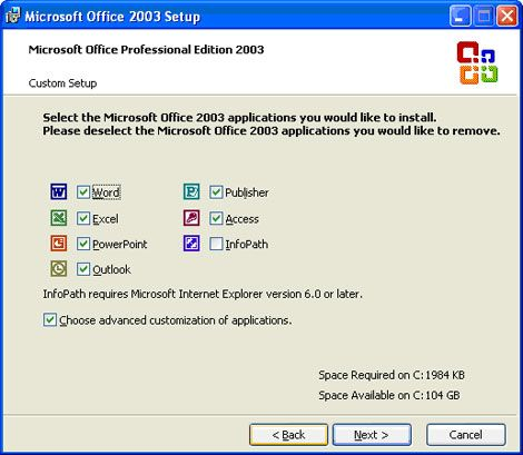 Then expand Office Tools and make sure that Microsoft Office Picture