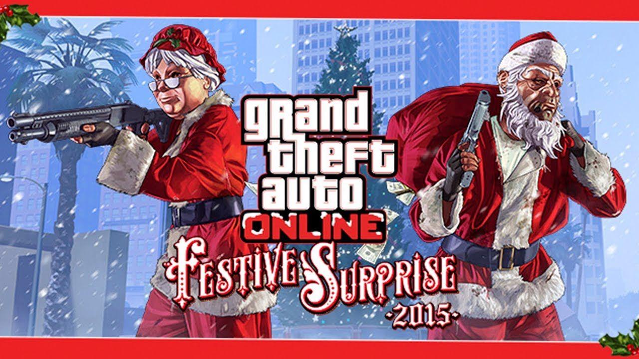 GTA 5 ONLINE TRAJES DE NATAL DLC COM ARVORé FESTIVA   games ...