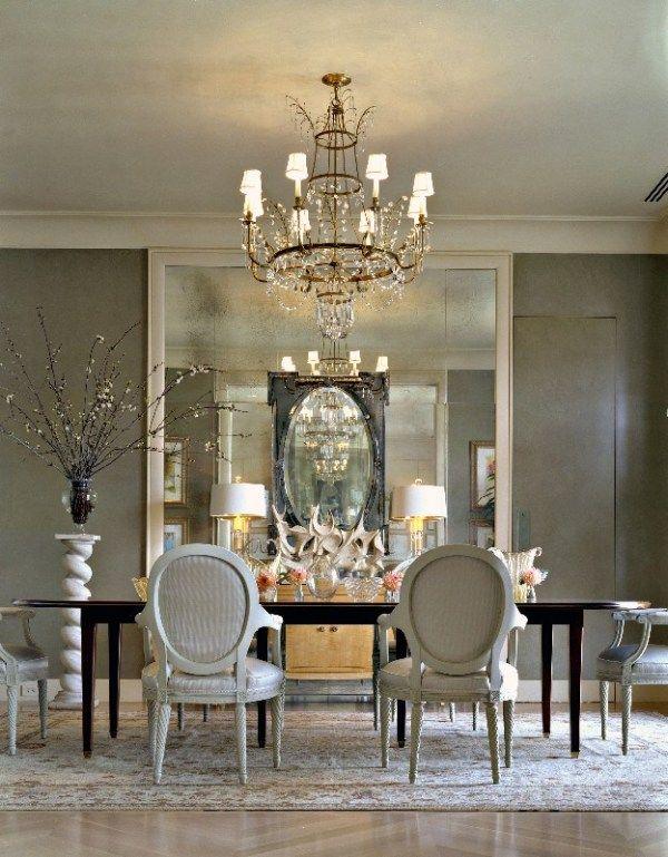 Elegant Dining Space Spiegelwand Spiegel wand DIY und - deko wandspiegel wohnzimmer