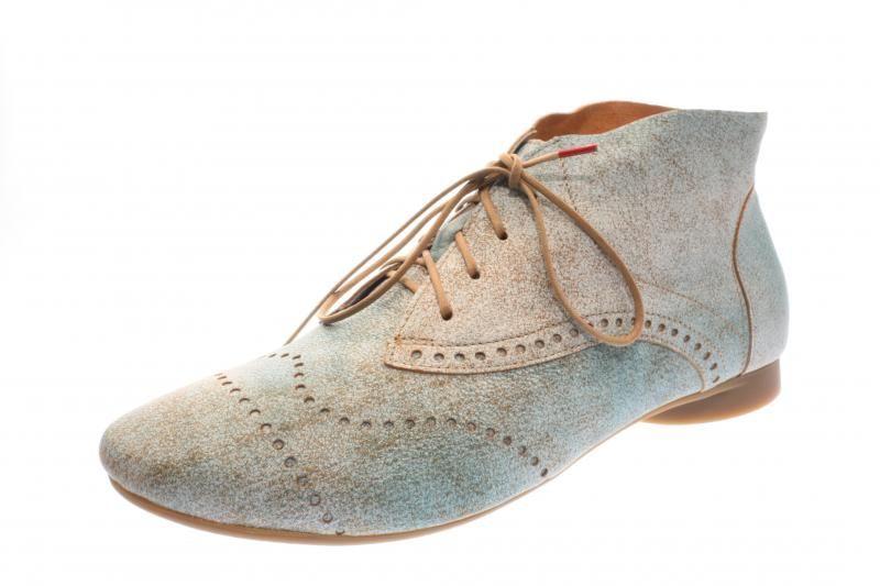 Think Guad Stiefelette, Damen Desert Boots, Blau (Lagune/Kombi 88), 38 EU
