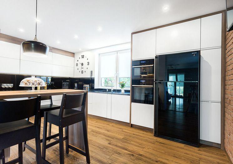 Kuchnia Czarna Lodowka Home Decor Kitchen Decor