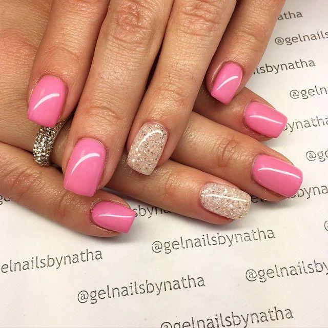 Gelnailsbynatha On Instagram Nail Nails Nailart Nailfollowers Nailinsta Instanails Instafollow Instafashion In Pink Acrylic Nails White Nails Nails