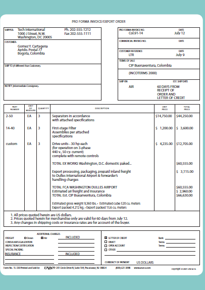 Pro Forma Invoice Purchase Order Form Invoicing Lettering