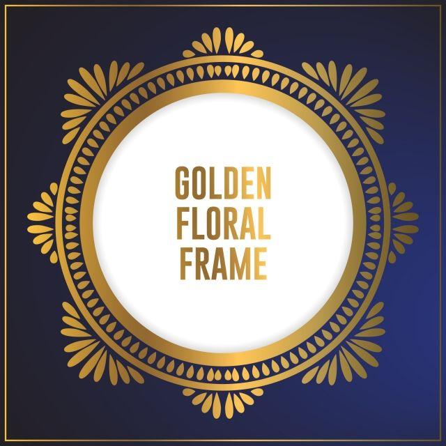 ترف دائرة تصميم الأزهار الذهبية زخرفة الإطار تصميم خلفية الإطار الذهب مع زخرفة الأزهار الفاخرة محول الرموز أيقونات اللياقة صانع الايقونات Png والمتجهات للتحم Ornament Frame Frame Background Background Design