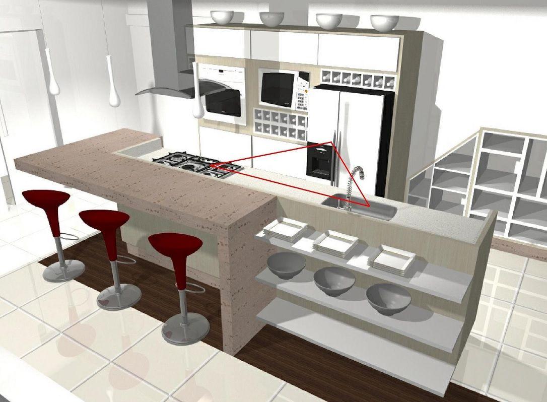 Cozinha americana planta decora o pinterest cozinha - Tegola americana leroy merlin ...